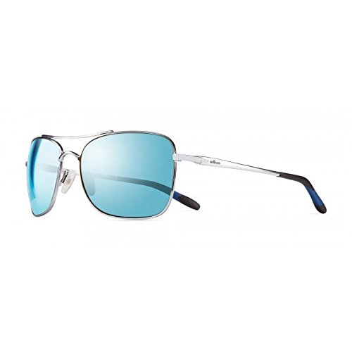 Cheap Revo Territory Sunglasses, Polished Chrome Frame, Blue Water 60mm Lenses, part of the Serilium Collection