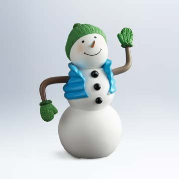 (LPR2323 Hallmark Fun in the Fridge talking, singing snowman )