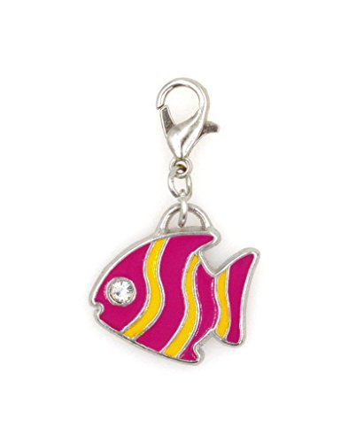 2-pc-set-stainless-steel-starter-charm-bracelet-and-clip-on-charm-purple-yellow-enamel-fish-75-95-ad