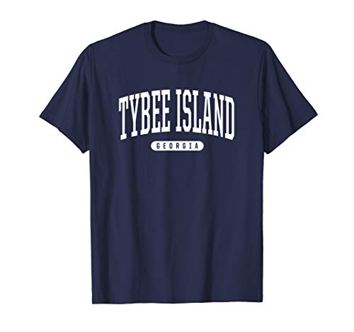 Tybee Island Georgia T-Shirt Vacation College Style GA USA T