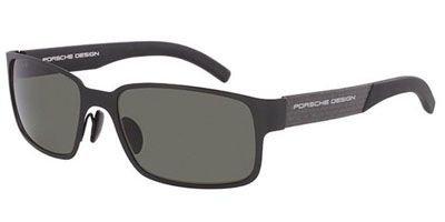 Porsche Designs Sunglasses P8551 A Matte Black Polarized Green 57 18 - Sunglasses Uk Design Porsche