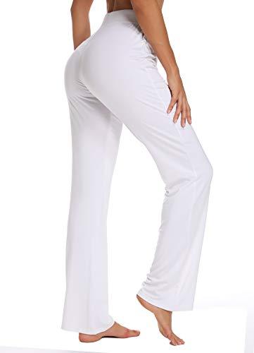 Für Bein Und Instinnct Tunnelzug Yoga Jogginghose Straight Yogahose Weiß Casual Jogger Hose Damen Mit PxqnZzxg