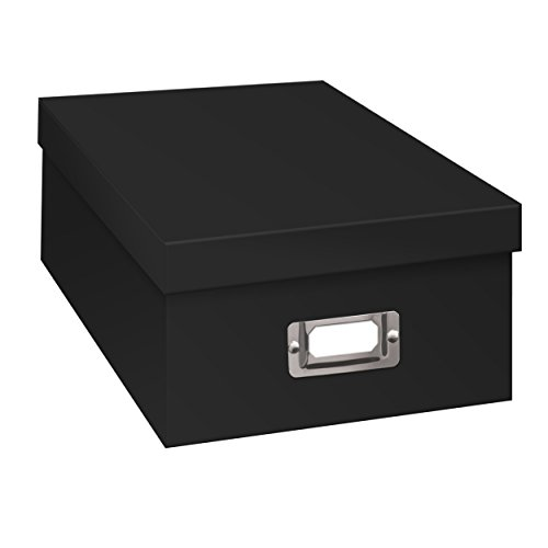 Pioneer Photo Albums B-1BLK Photo Storage Box, Black -