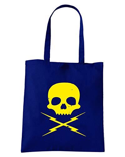 Speed Shirt Borsa Shopper Blu Navy FUN1164 DEATH PROOF STUNTMAN MIKE
