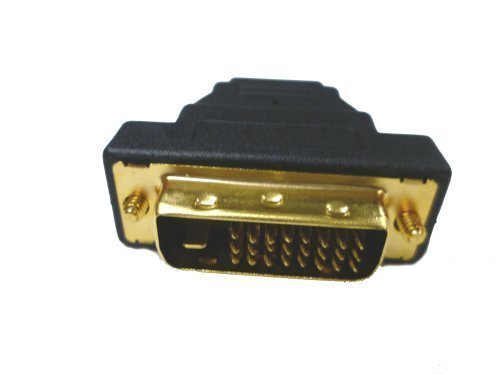 Xavier DVIM-HDMIF DVI-D Dual Link Male to HDMI Female Adapter, Adapts DVI to HDMI, Vice Versa, Black ()