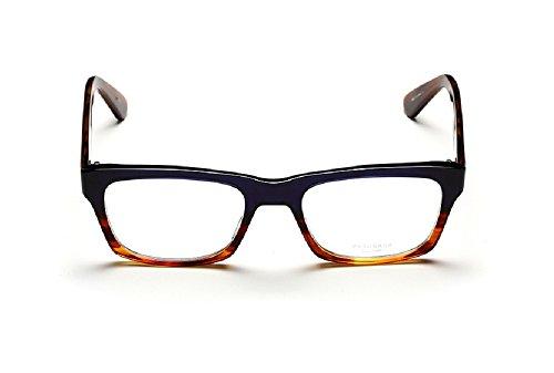 Masunaga 011U/33 Unisex Designer Glasses in Dark Blue/Brown , - Masunaga Eyewear