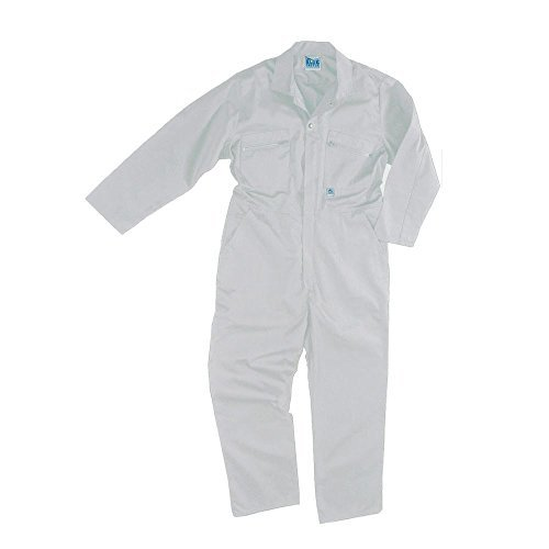 [NEW MENS BOILER SUIT OVERALL HALLOWEEN COSTUME SCARY MOVIE JASON HORROR FANCY DRESS UP SUIT WHITE 46'' CHEST by Castle] (Jason Scary Costume)