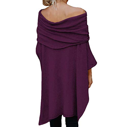 Printemps S Hiver T Automne lgant Grande Poncho Tops Casual Tunique Lache 2 Hibote Basique Irrgulier Taille Chic Femme Tops Hauts Ourlet Shirt 2XL Sexy UpqHwFw1x
