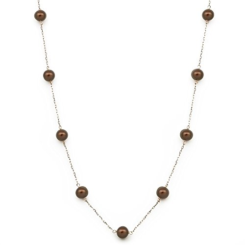 Freshwater Chocolate Pearl Necklace - 8