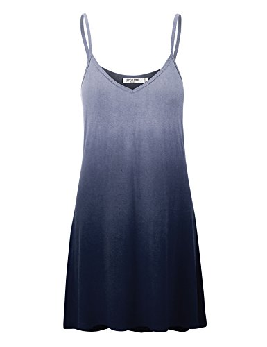 in V Tunic Spaghetti navy Love and Wdr1139 Womens Short Lock USA LL Neck Dress Strap Made qx7FIpRw