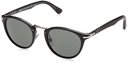 Persol Mens Sunglasses (PO3108) Black/Grey Acetate - Polarized - - Glasses Persol