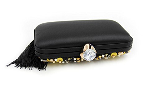Luxury Dinner Lady Embroidery Clutches Colorful Shells Bag Party Shoulder Chain Bags Evening fBBIX1q
