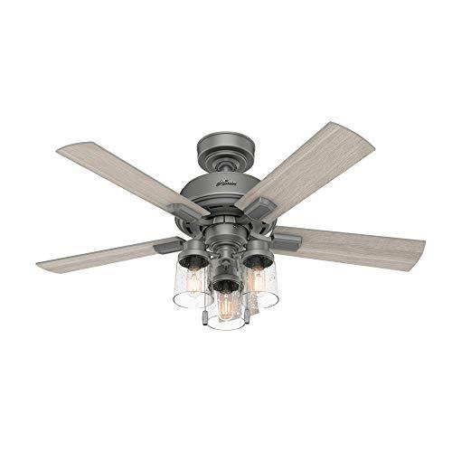 Hunter Fan Company 50649 Hartland Ceiling Fan, 44, Matte Silver Finish