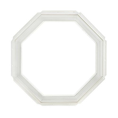 Park Ridge Vinyl Octagon Fixed Window with Insulated Clear Glass, 22 x -
