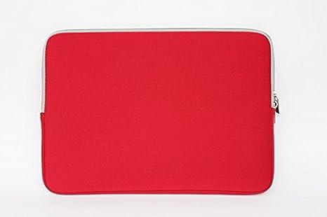 Novatec rojo funda de neopreno funda blanda para portátil/ordenador portátil/netbook funda blanda