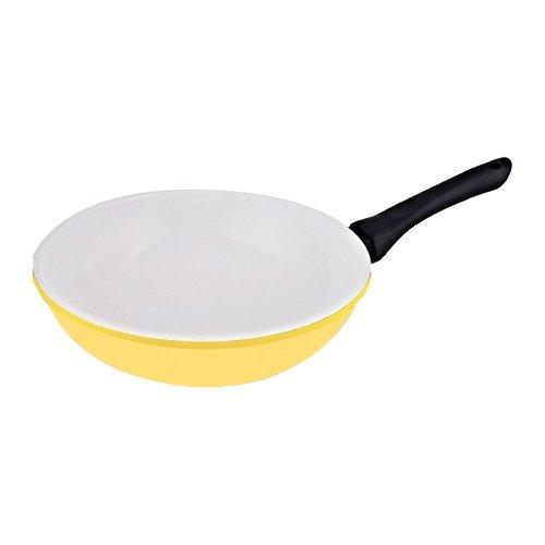 Vinaroz 11 Inch Cast Aluminum Fry Pan  Yellow Die