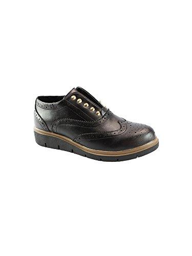 Metal Women Grippy Brogue 11 6 Stud Oxford Shoes Adult Wingtip Liyu Black qwCCPI