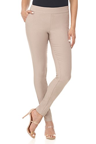 Khaki Career Pants - Rekucci Women's Ease in to Comfort Modern Stretch Skinny Pant w/Tummy Control (16,Khaki)