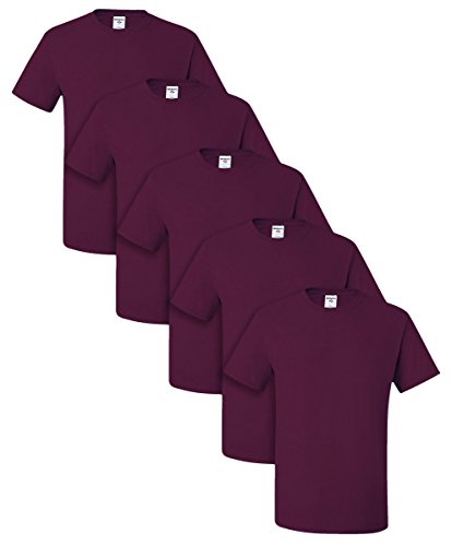 Jerzees Dri-Power Active Adult Tee, S, Maroon (Pack of 5) -