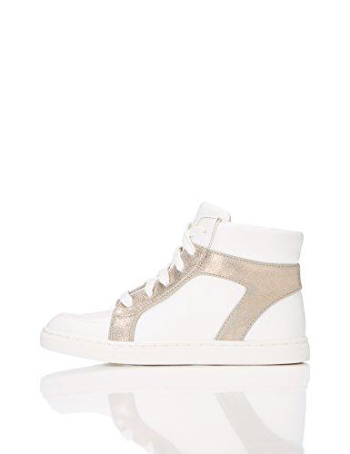 RED WAGON Mädchen Sneaker mit Metallic-Look, Weiß (White), 32 EU