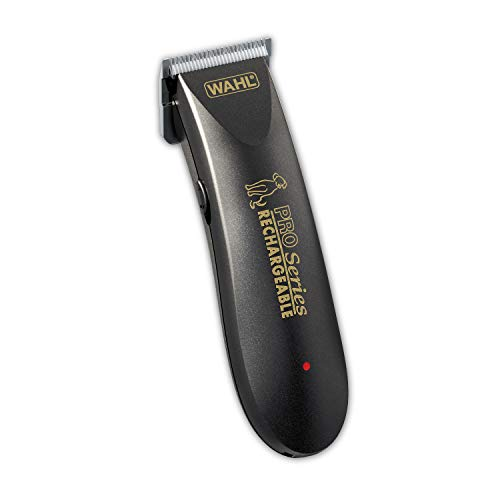 WAHL Deluxe Pro Series Rechargeable Cordless Dog Clippers with Low Noise for Quiet Dog Grooming at Home - for Small & Large Dogs with Thin to Thick Coats - Model 9591-100
