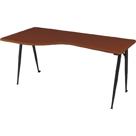 Balt IFlex Modular Desking System Left Table Full Cherry Black