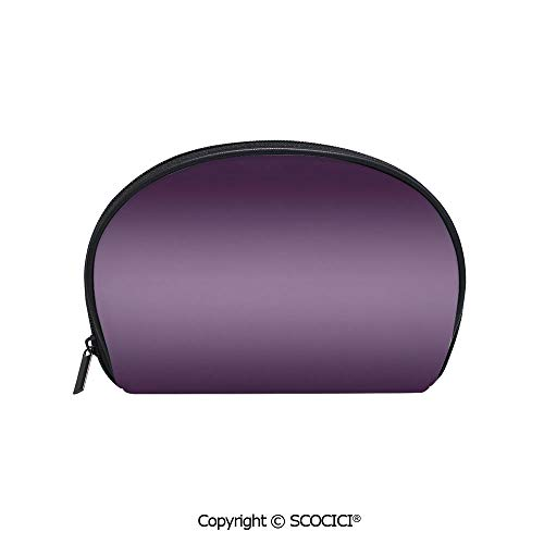 (SCOCICI Polyester Printed Cosmetic Bag Storage Bag Hollywood Theater Inspired Purple Colored Modern Design Room Decorations Artwork Makeup Bag Toiletry Pouch)