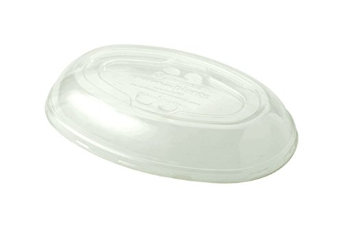 (World Centric BOL-CS-UBBS 100% Compostable Ingeo Clear Plastic Burrito Bowl Lids for 24 oz. Bowls (Pack of 400))