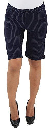 9f2132cfe28f Damen Business Stoff Stretch Capri Kurze 3 4 Jeans Hose Shorts Bemuda Hüft  Sommer Blau