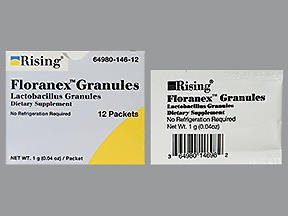 Floranex Lactobacillus Granules - 12 packets, Pack of 6 by Floranex