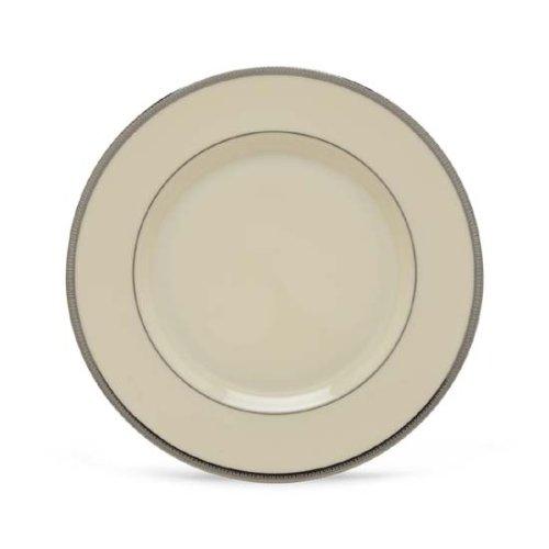 Lenox Tuxedo Platinum Ivory China Salad - China Platinum Plate Salad