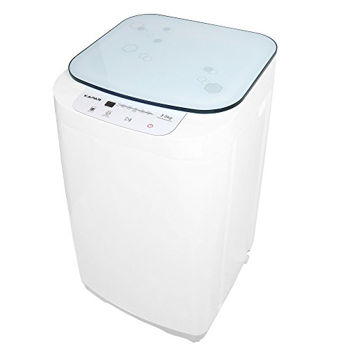 KAPAS KPS35-735H2 Compact Washing Machine, Fully Automatic 2-in-1 Washer and Dryer Machine with 8 lbs. Capacity Top Load Tub Washer