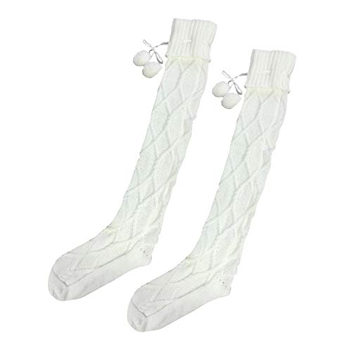 Clearance Forthery Over the Knee High Socks Knit Boot Socks Stockings Winter Warm Leg Wamers(Beige)