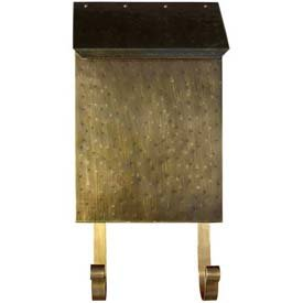 (Provincial Series Vertical Wall Mount Mailbox in Hammered Antique Brass)