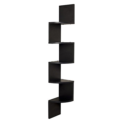 Danya B Large Laminated Corner Wall Mount Shelf