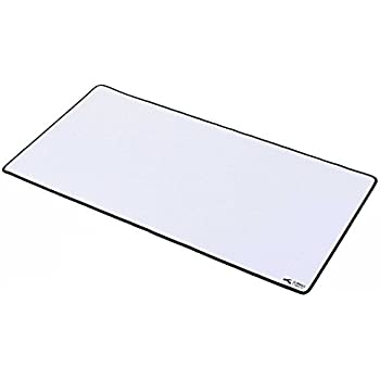 """Glorious XXL Extended Gaming Mouse Mat / Pad - Large, Wide (Long) WHITE Mousepad, Stitched Edges 