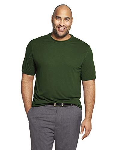 Van Heusen Men's Air Short Sleeve Doubler Crew Neck Tee, Green deep Forest, XX-Large