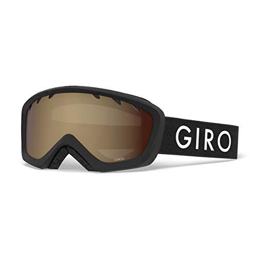 Giro Chico Kids Snow Goggles Black Zoom - Amber Rose (Best Toddler Ski Helmet)