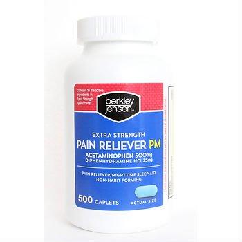 Berkley Jensen Extra Strength Non-aspirin Pm Caplets, 500 Count