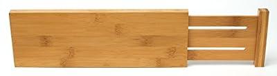 Lipper International 8895 Bamboo Dresser Drawer Dividers, Set of 2