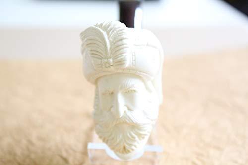 White Turkish Meerschaum Smoking Pipe Handcrafted, Unique Design by Handmade Studio