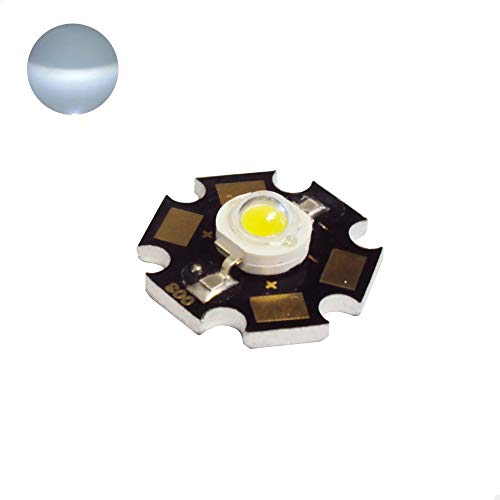 10pcs. High Power LED Chip - Cool White/Day Light - DC3.55V input - 350mA output - Star - Component - Ultra Bright - Powerchip Module - Electronic Part - Flood Light Reflector Energy Saving Lamp