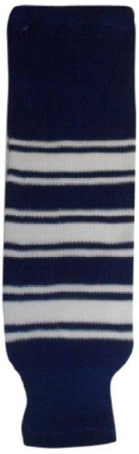 fan products of DoGree Hockey Toronto Knit Hockey Socks, 28-Inch, Blue/White