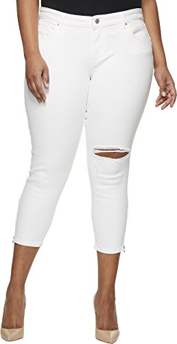 Levi's Women's Plus-Size 711 Ankle Skinny Zip Jeans, Wash Out White 42 (US 22) -