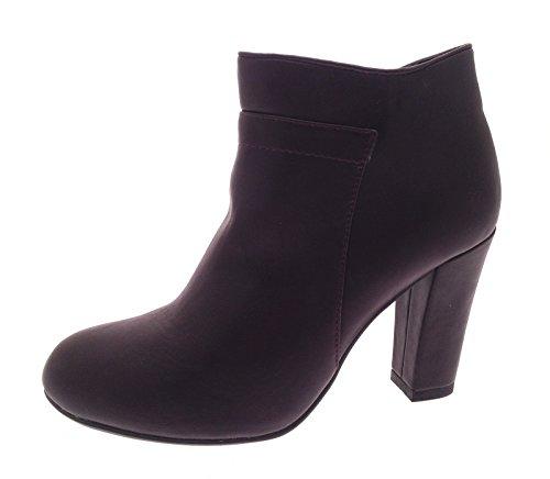 3 tobillo Botas piel Tamaño alto Zapatos Unido 8 sintética de Reino mujer y Plataformas para para tacón niñas ocultas Borgoña con UwrqUzF