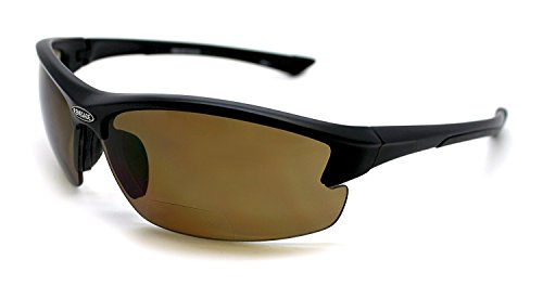 Renegade Patented Bifocal Polarized Reader Half Rim Men's Fishing Sunglasses 100%UV Protection (Matt Black Frame, Brown Lens - 613649, Bifocal - Bifocals With Sunglasses Fishing
