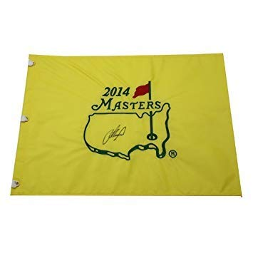 Lee Westwood Autographed Signed 2014 Masters Pin Flag -