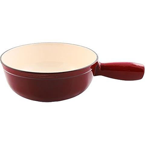 Swissmar F65004 Lugano 1-1/2-Quart Cheese Fondue Pot, Cherry Red