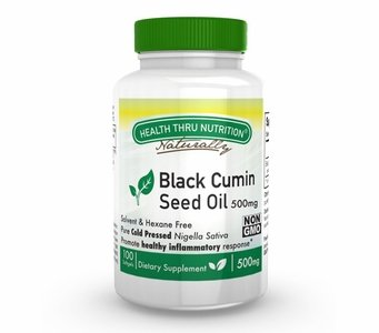 Black Cumin Seed (Black Cumin Seed Oil - Non-GMO - 500mg 100 Softgels First Cold Pressed)
