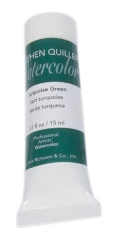 Stephen Quiller Watercolor - Jack Richeson Stephen Quiller 15-Ml Watercolor Tube, Turquoise Green